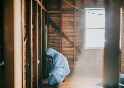 man working in a house